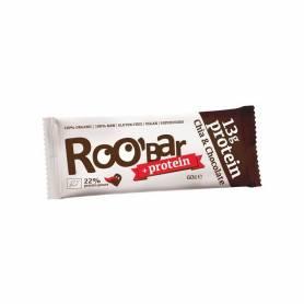 Baton proteic raw bio cu chia si ciocolata 60g ROO BAR