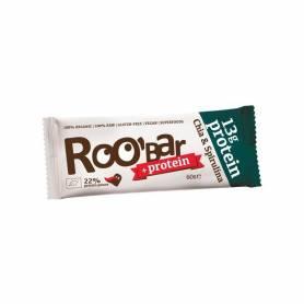 Baton proteic raw bio cu chia si spirulina 60g ROO BAR
