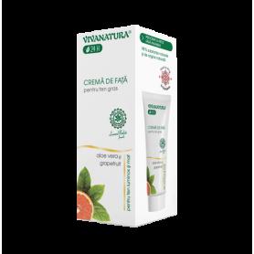 crema de fata pentru ten gras cu aloe vera cu grapefruit - 75 ml - Vivanatura