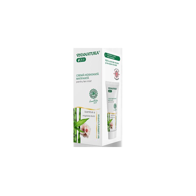 Crema hidratanta matifianta pentru ten mixt Vivanatur