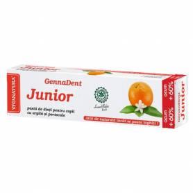 Pasta de dinti GennaDent Junior Portocale 80ml - Vivanatura