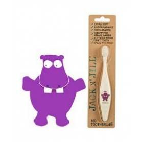 Periuta de dinti bio pentru copii - Hippo - Jack N'Jill