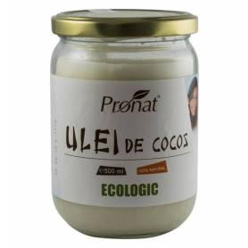 Ulei de cocos NEHIDROGENAT- DEZODORIZAT 500ml - ECO-BIO - PRONAT