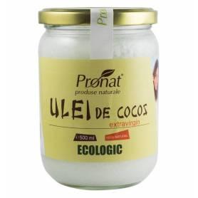 Ulei de cocos extra virgin 500g - ECO-BIO - PRONAT