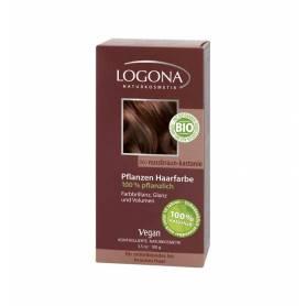 Vopsea de par 100% naturala - Castaniu 100g - Logona