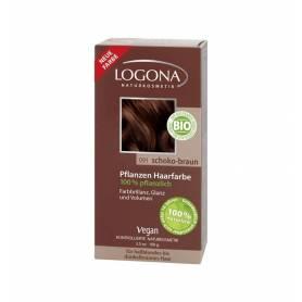 Vopsea de par 100% naturala - Maro ciocolata 100g - Logona