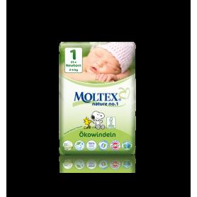 Scutece ECO nou nascuti (2-4kg) nr. 1, 23buc - Moltex