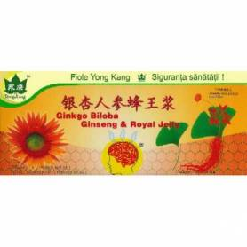 Ginkgo Biloba Ginseng Royal Jelly - 10 fiole a 10 ml - Yong Kang