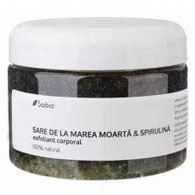 Exfoliant cu Sare de la Marea Moarta si Spirulina – 350ml - Sabio