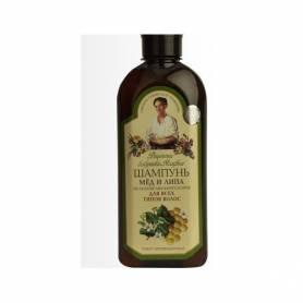 Sampon nutritiv cu miere si tei pentru toate tipurile de par (AP32) 350ml Bunica Agafia