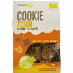 Cookie - biscuti germinati - din seminte si lamaie RAW - 100g - Petras Bio
