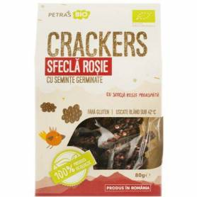 Crackers din sfecla rosie si seminte germinate RAW - 100g - Petras Bio