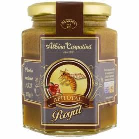 Miere cu polen, propolis si laptisor de matca 360g - Apicola Pastoral  Georgescu
