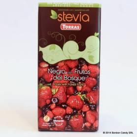 Ciocolata neagra 58% cu fructe de padure Stevia 125g - TORRAS