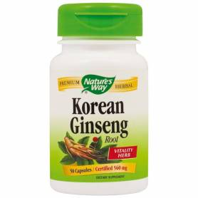 Ginseng Corean - Korean Ginseng 560mg 50cps - Natures Way -  Secom