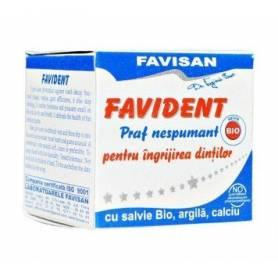 Favident nespumant -praf de dinti- eco-bio 50ml - FAVISAN