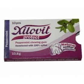 Xilovit - guma de mestecat cu xilitol - peppermint - menta salbatica 10,8g
