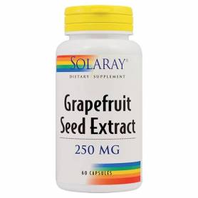 Grapefruit Seed Extract - Extract din seminte de grapefruit - 250mg - 60cps - Solaray-  Secom