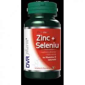 Zinc + Seleniu + Vitamina C naturala 60cps - DVR Pharm