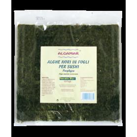 Alge nori pt sushi (Porphyra umbilicalis) raw eco-bio 30g - 10 folii Algamar