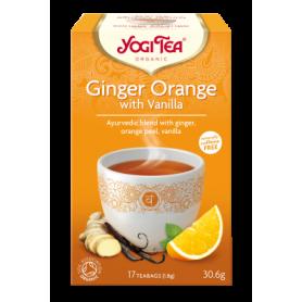 Ceai de ghimbir portocala si vanilie 17pl ECO-BIO - Yogi Tea - Pronat
