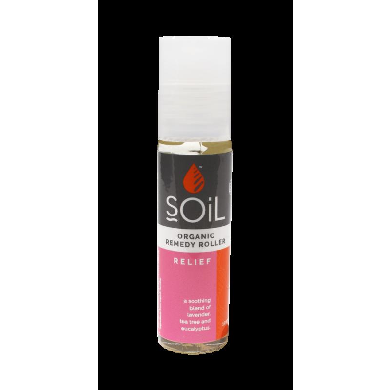 SOiL Roll-On Relief cu Uleiuri Esentiale Pure Organice ECOCERT Amestec de Alinare Rapida