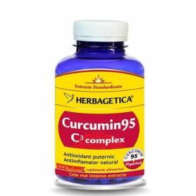 Curcumin 95 C3 complex 120cps - Herbagetica