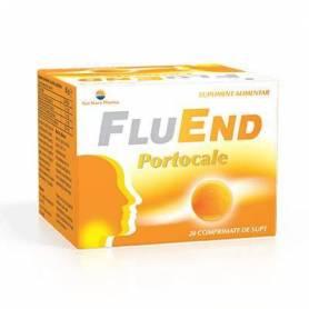 FluEnd Portocale 20cp de supt - Sun Wave Pharma