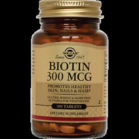 BIOTIN (Vitamina B7) 300mcg - 100caps - Solgar
