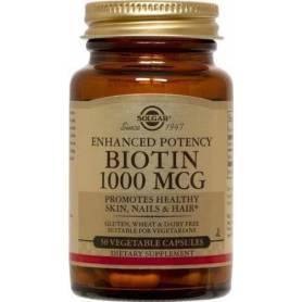 BIOTIN (Vitamina B7) 1000mcg - 50 veg caps - Solgar