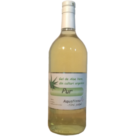 Aloe-Pur - gel organic de Aloe Vera - fara pulpa - 1L - AquaNano