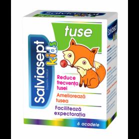Salviasept Kids Tuse - 6 acadele - Zdrovit