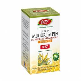 Muguri de pin cu miere si propolis sirop - 100ml - Fares