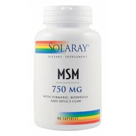 MSM 750mg 90cps - Solaray - Secom