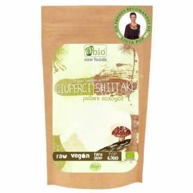 CIUPERCI SHIITAKE pulbere raw bio 250g - OBio