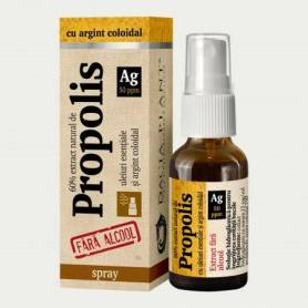 Propolis cu Argint Coloidal fara alcool - 20ml spray - Dacia Plant