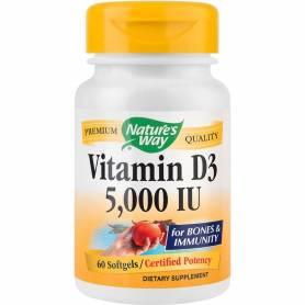 Vitamin D3 5000UI 60cps Nature's Way, Secom