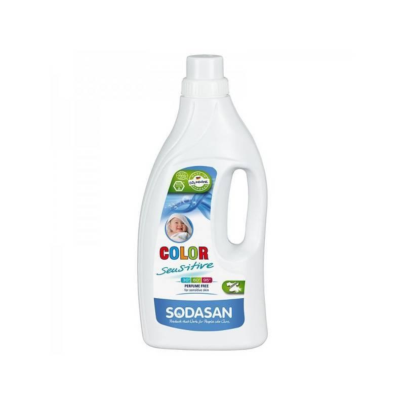 Detergent bio lichid rufe albe si color sensitiv hipoalergen 1,5l SODASAN