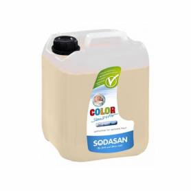 Detergent bio lichid rufe albe si color sensitiv hipoalergen 5l SODASAN