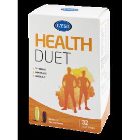 Health Duet omega 3 - multivitamine 32 doze - Lysi