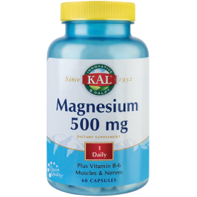 Magneziu - MAGNESIUM 500mg 60cps - KAL - Secom