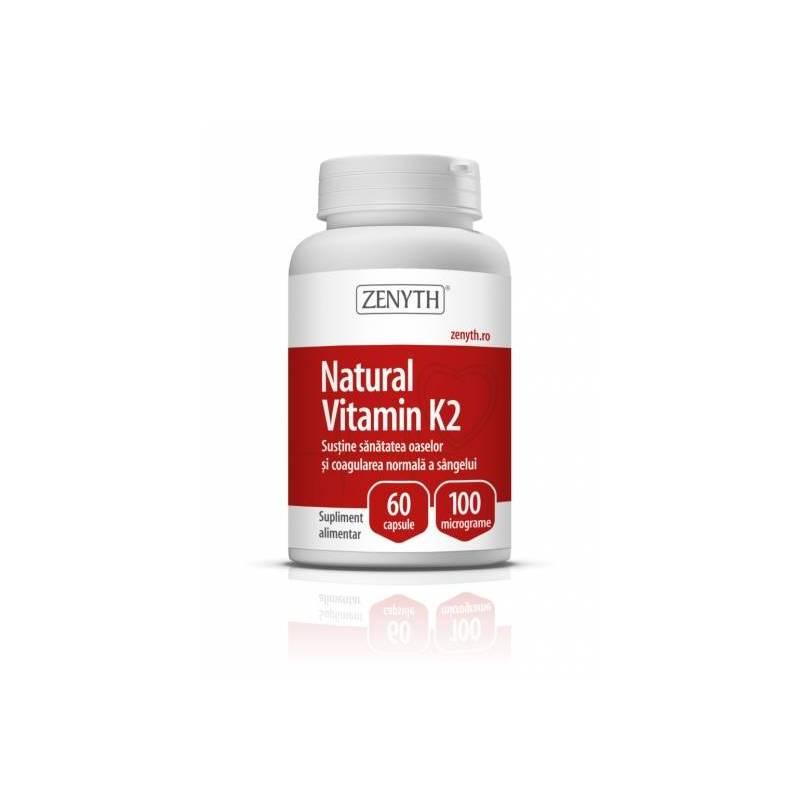 Vitamina K2 naturala 100µg 60cps - Zenyth