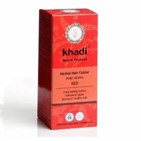 Henna Rosu - Vopsea de par naturala 100g - Khadi