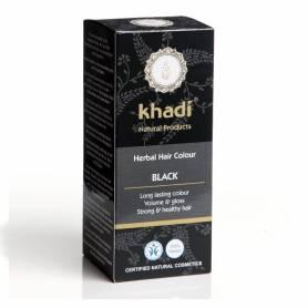 Henna Negru - Vopsea de par naturala 100g - Khadi