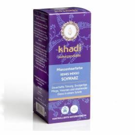 Henna Negru Indigo - Vopsea de par naturala 100g - Khadi