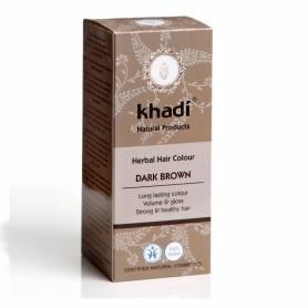 Henna Saten Inchis - Vopsea de par naturala 100g - Khadi