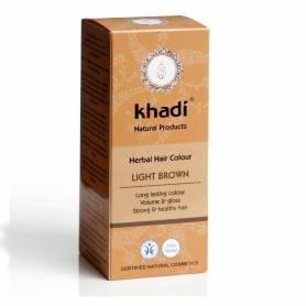 Henna Saten Deschis - Vopsea de par naturala 100g - Khadi