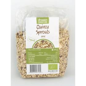 Quinoa alba - germinata si uscata - 200g - ECO-BIO - DRAGON SUPERFOODS