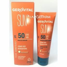 Crema fata nuantatoare SPF50 50ml - Gerovital Sun