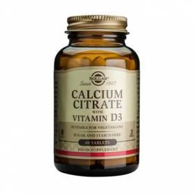 Calcium citrate 250mg cu Vit D3 60cps - SOLGAR